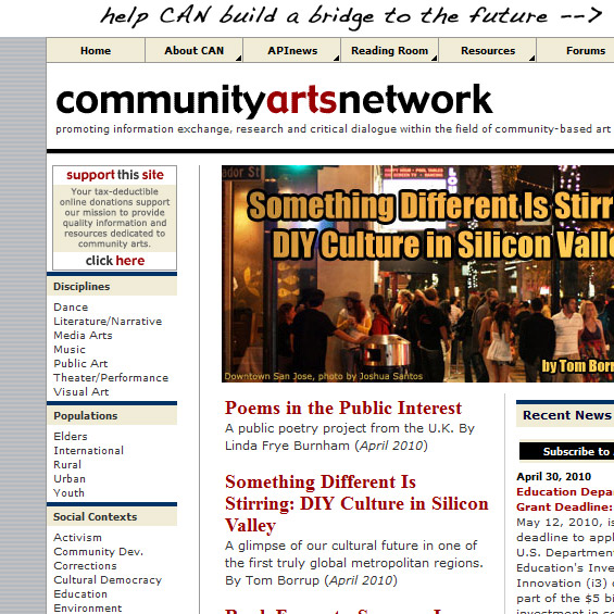 Web Archive - Community Arts Network