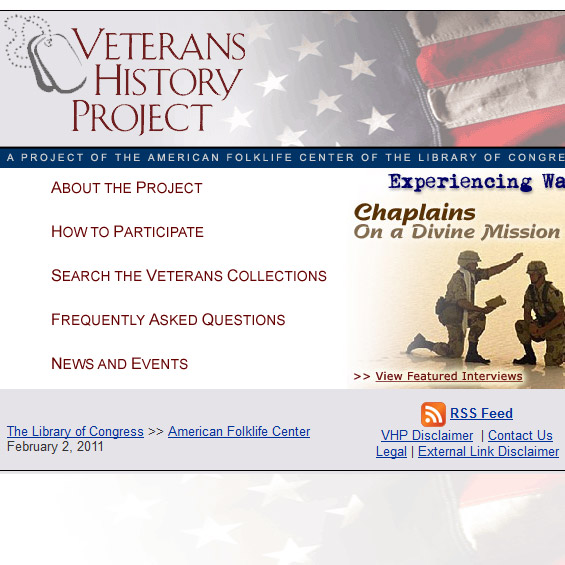 Web Archive - Veterans History Project